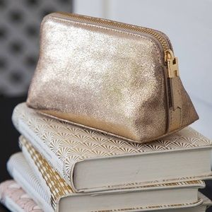 India Hicks Gold Crackle Firefly Cosmetics Bag